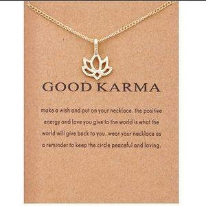 GOOD KARMA Lotus Flower Pendant Necklace